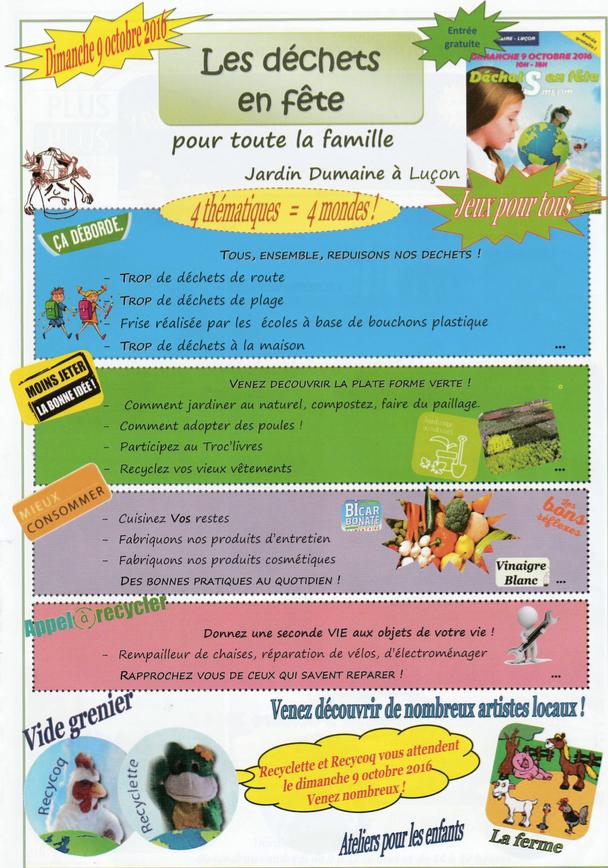 LES DECHETS EN FETE à Luçon @ Jardin Dumaine | Luçon | Pays de la Loire | France